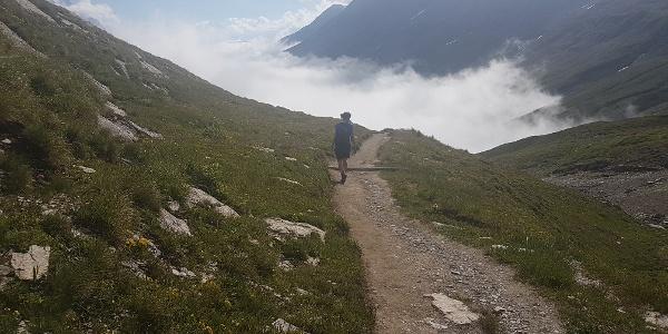On the ascent to Col de la Seigne