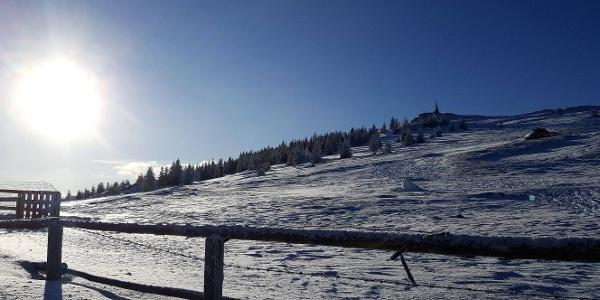Kurze Schneeschuhrunde auf der Stubalm_Wölkertkogel und Steinerne Miarz
