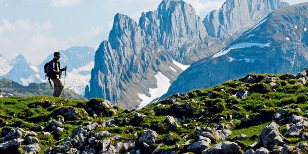 Auf der Alp Sigel mit Blick zu den Kreuzbergen.