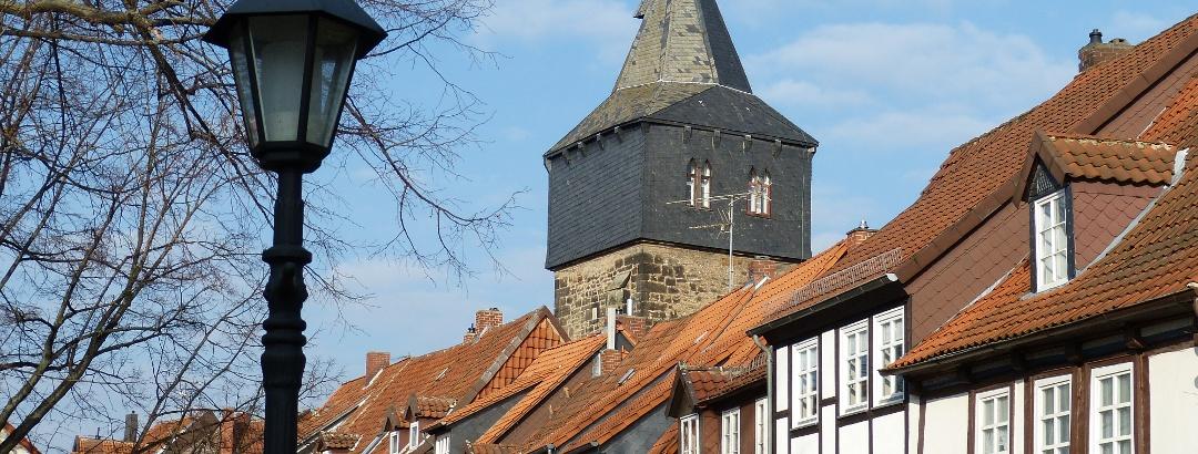 Straßenzug in Hildesheim