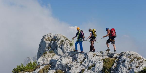 Alpines Bergsteigen Kampenwand
