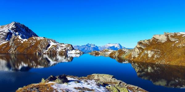 Lac des Vaux mountain lake.