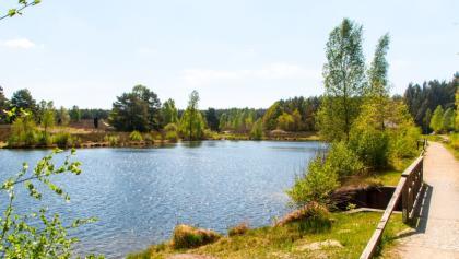 Der See beim Angelbecksbusch