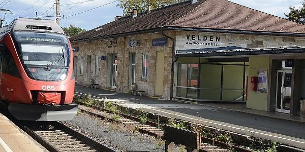 der umgebaute Bahnhof von Velden, Nordwestansicht