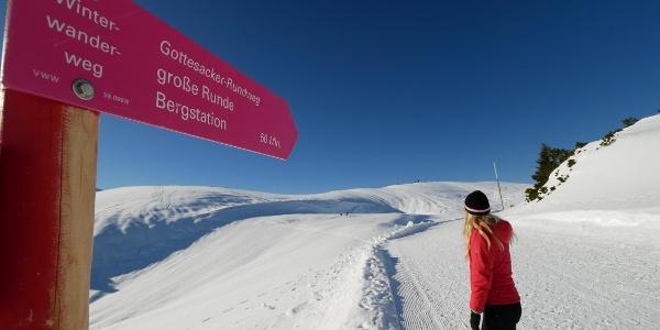 Winterwanderung im Kleinwalsertal: Gottesackerrunde am Ifen