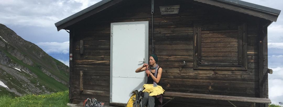 Eine erste Rast bei der kleinen Chälenhütte