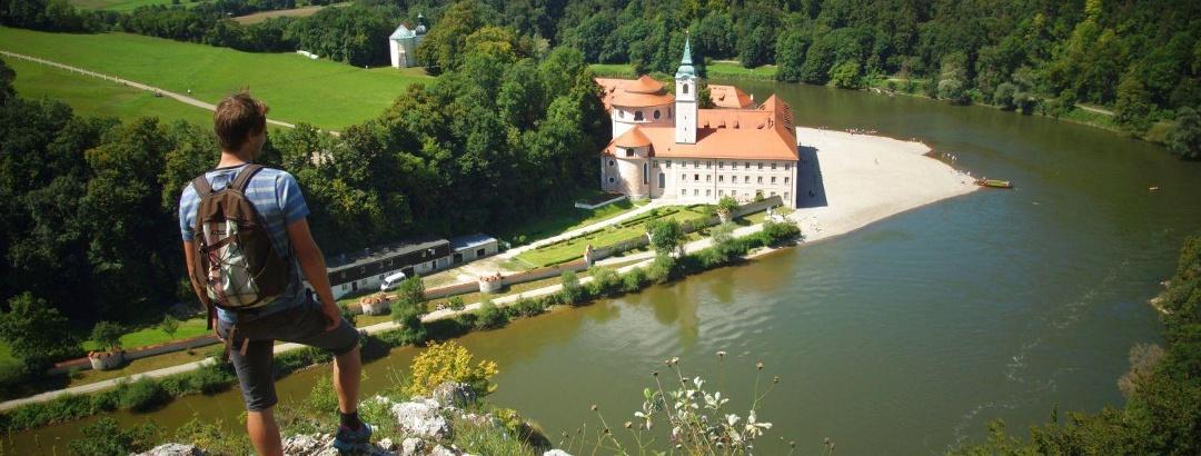 Wanderung auf der Donauroute zum Kloster Weltenburg