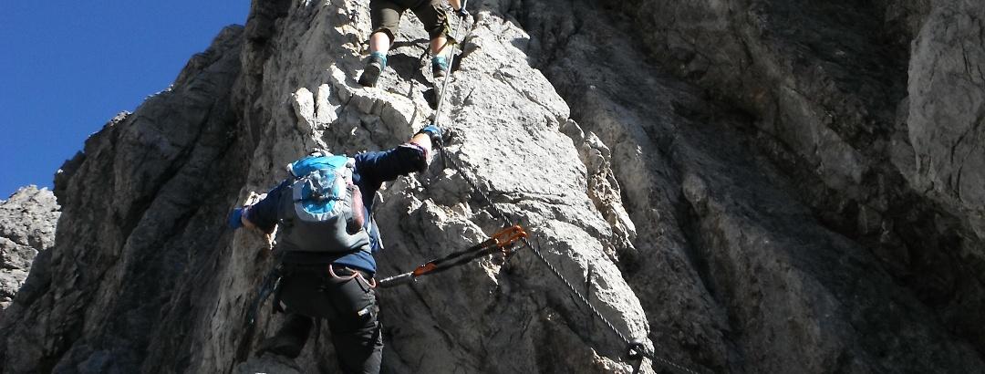 Mittendrin im Imster Klettersteig
