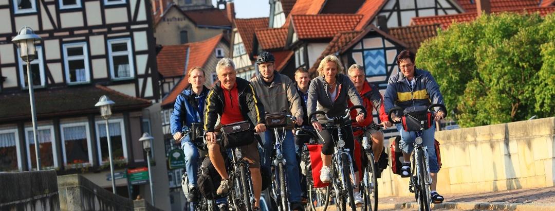 Radfahrer in Hann. Münden