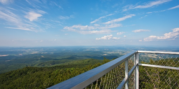 The view to the northeast from Galya lookout tower