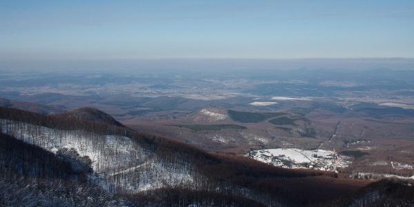 Pohľad na severozápad z rozhľadne Galya-kilátó