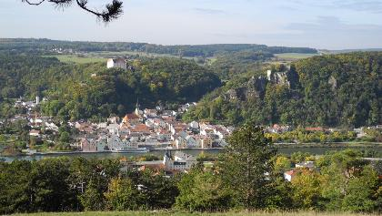 Blick auf Riedenburg im Altmühltal