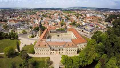 Luftaufnahme aus Osten - Stadtschloss - Weimar