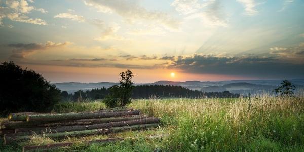 Sonnenaufgang Vogtland bei Adorf