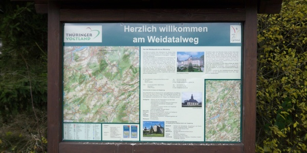 Hinweistafel Weidatalweg
