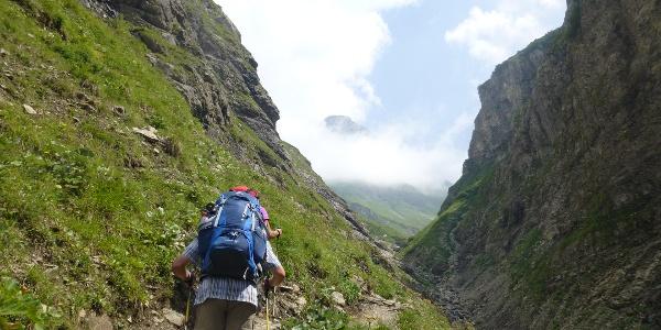 1. Etappe - in die Grasberge/Allgäuer Alpen (Sperrbachtobel)