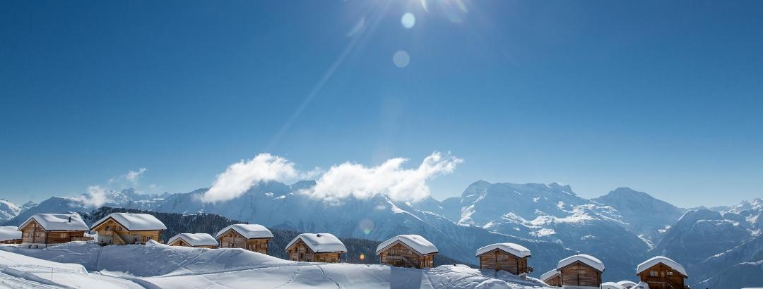 Im Skigebiet Belalp
