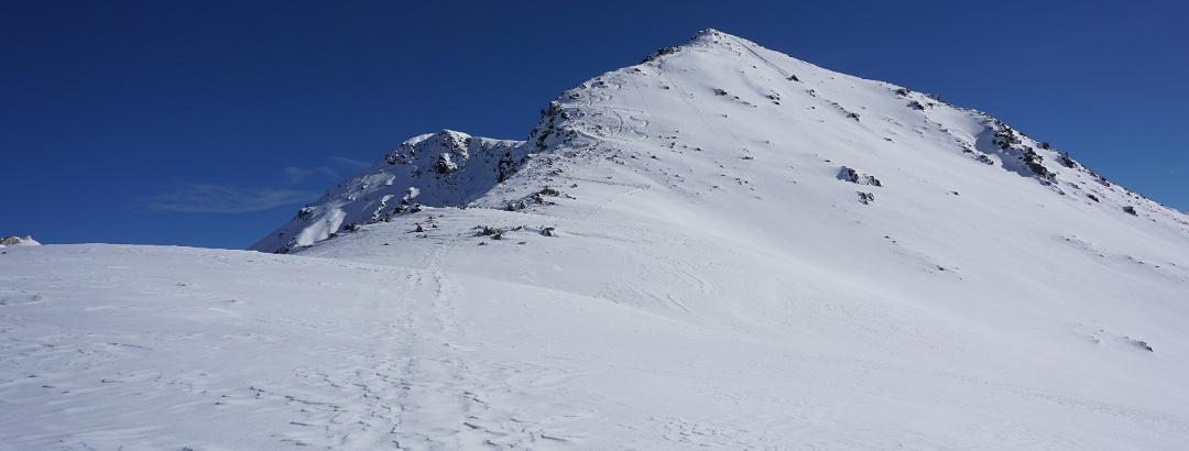 Vom Joch aus Richtung Gipfelgrat