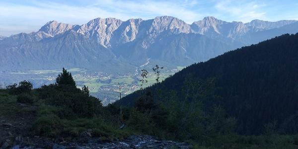 Mieminger Gebirge in der Morgensonne