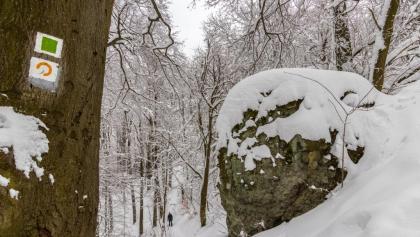 Az egyik kisebb szikla a Thirring-körút mentén