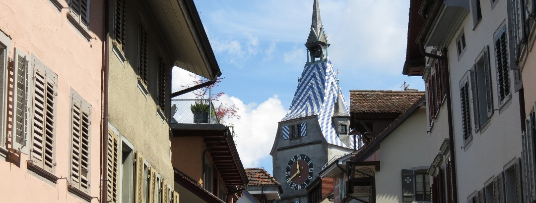Turmhaube des Zytturms in der Altstadt von Zug