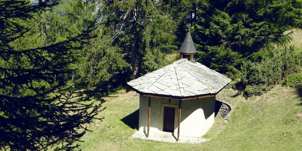 Small chapel in the forest above Visperterminen.
