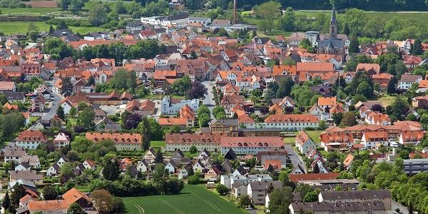 Blick vom Plesseturm nach Wanfried im Werratal