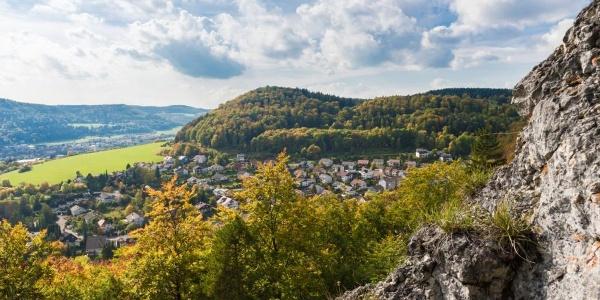 Blick vom Schnecklesfels Traufgang Ochsenbergtour