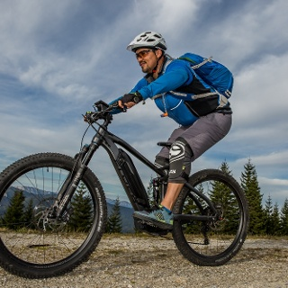 Mountainbiking rund um den Windpark Pretul