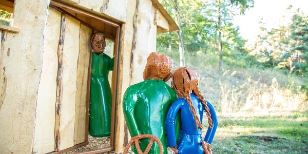 Märchenpfad Hechingen - Hänsel & Gretel gruseln sich vor der Hexe