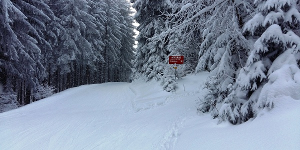 Abzweigung für Skitourengeher