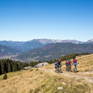Mountainbiken rund um den Windpark Pretul
