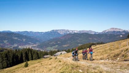 Mountainbiken rund um den Windpark Pretul