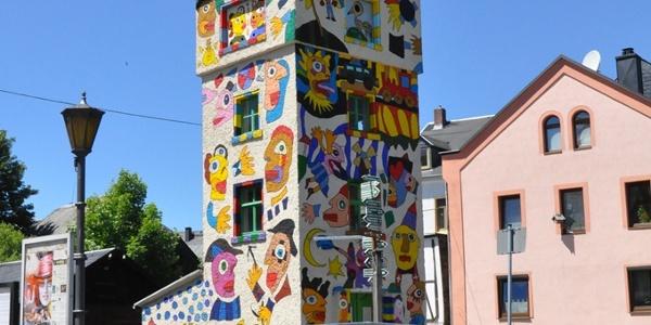Bunter Turm in Wurzbach