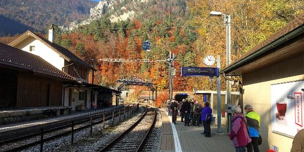 Bahnhof Oberdorf.