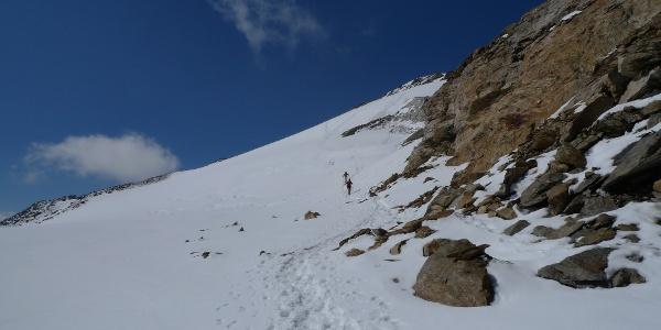 Gletscherrest im oberen Teil (2013)