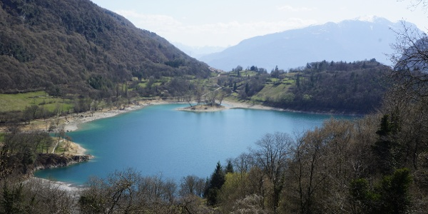 View of Lake Tenno from the state road towards Ballino