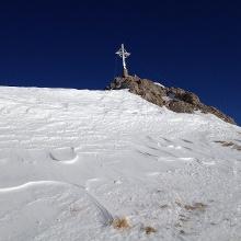 Rofanspitze mit neuem Gipfelkreuz