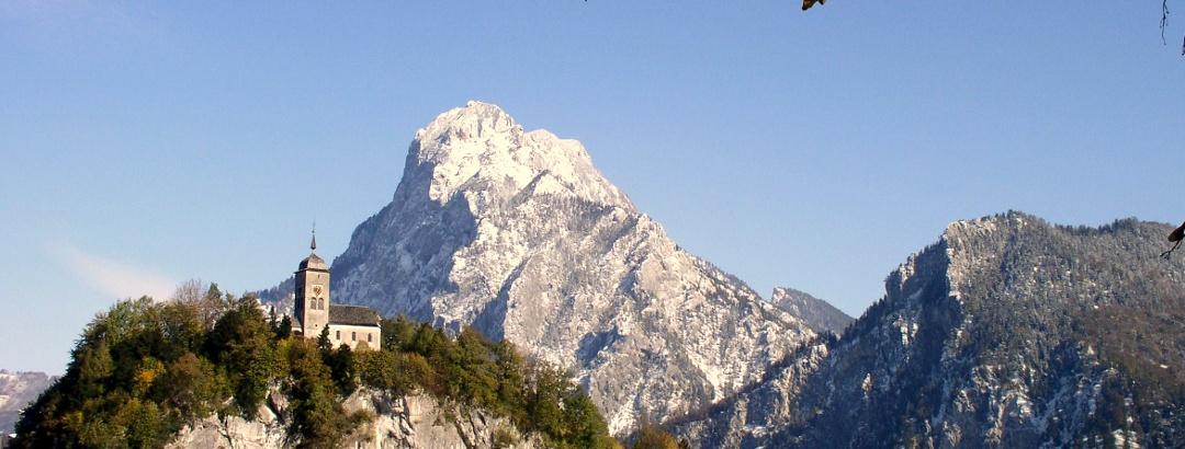Traunsee 428 m, mit Traunkirchen und Traunstein