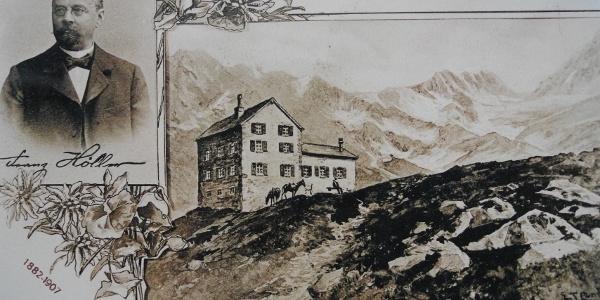 Franz Höller und die Höllerhütte, auch dieser Übergang ist nach dem Gönner der Hütte benannt.