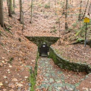 Mining landscape Schneeberg / St. Anna mine at Freudenstein - Lower Troster Stolln