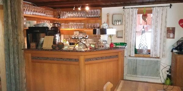 Die (Kaffee-) Bar der Neue Bonner Hütte.