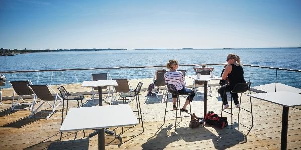 Löyly sauna terrace in Helsinki