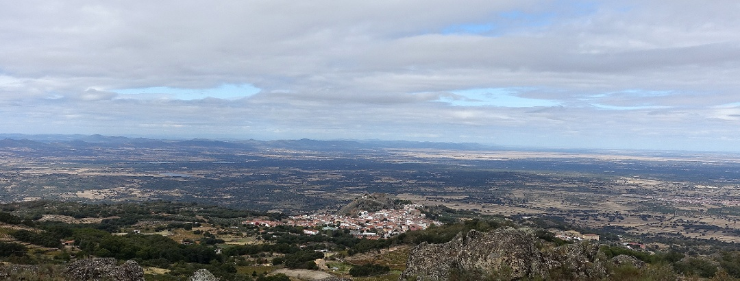 Blick auf Montánchez