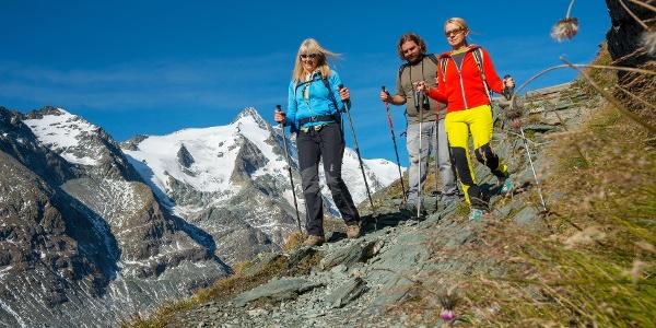 Start der Wanderung auf der Kaiser-Franz-Josefs-Höhe