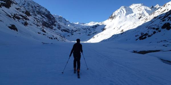 Von der Ambergerhütte 2135m ein paar Meter abwärts in die sogenannte Sulze