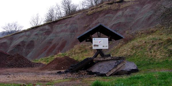 """die sogenannte """"Bergbeule"""" in Seebergen"""