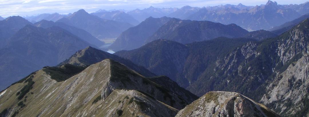 Blick vom Gipfel nach Westen