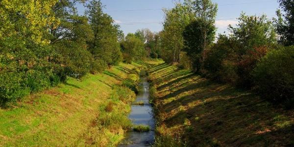 Die Rittschein - einer von mehreren Gewässern am Weg