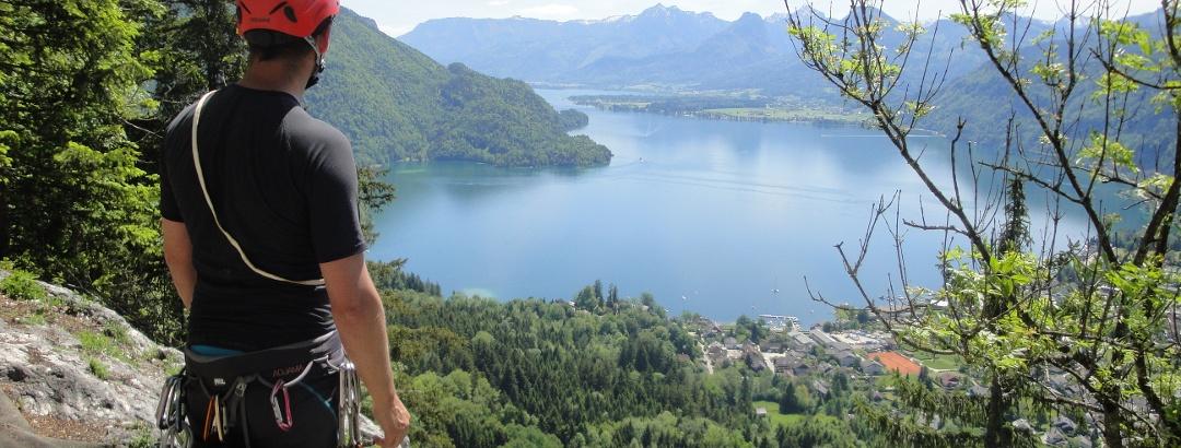 Beim Ausstieg - Blick auf den Wolfgangsee